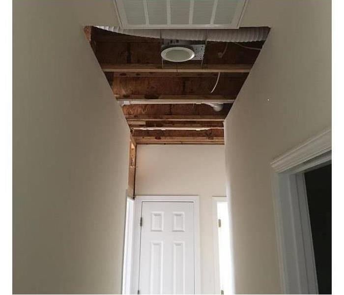 ceiling with hole